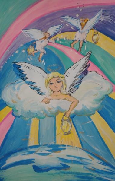 Рисунок ангелы мира, обложку